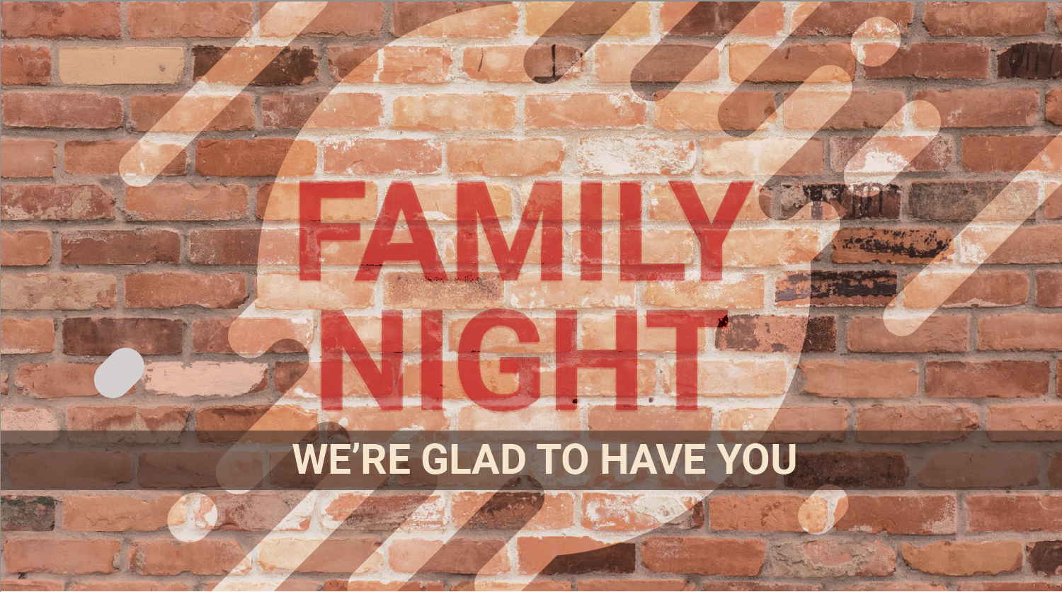 Mid-Week Mingle/Family Night @7pm (Fellowship Hall and Family Life Building)