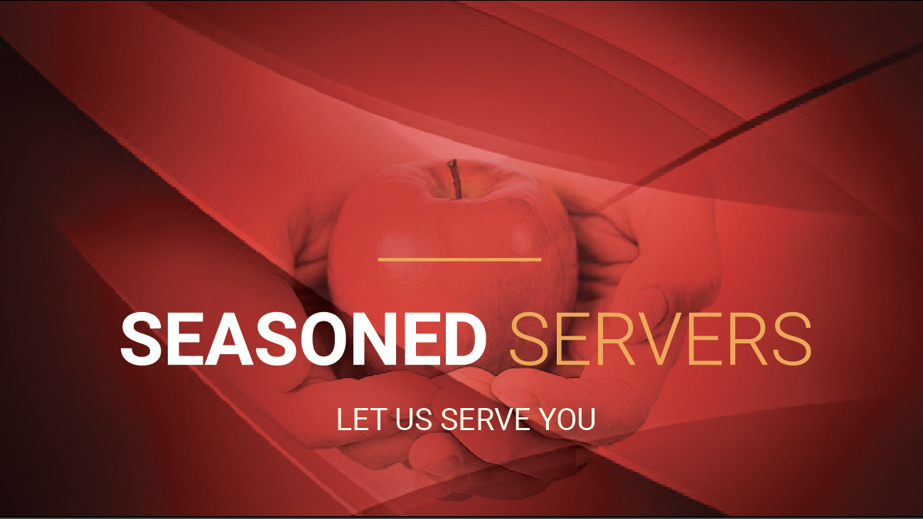 Seasoned Servers @9:30am (Room 102)